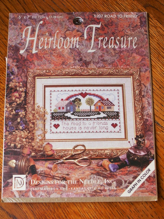 Heirloom treasure cross stitch kit gift for friend embroidery