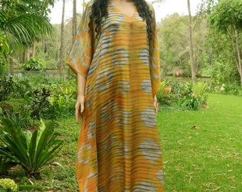 Extra Long Silk Kaftan, Kaftan Dress, Maxi Dress