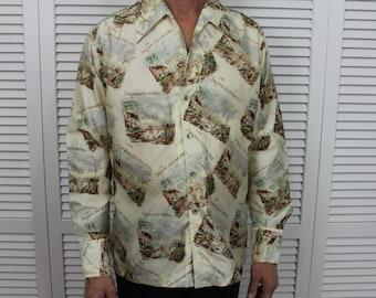 Vintage Mens Disco Shirt by D'Avila Size Med/Large