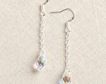 Swarovski Crystal Earrings - Bridesmaid Gifts - Rainbow Crystal - Summer Jewelry - Bridal Jewelry - Wedding Earrings