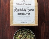 Respiratory Tonic Organic Herbal Tea - Healthy Lung Function - Caffeine Free 8 oz weight- Herbal Tisane - Gentle Expectorant