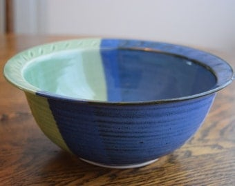 Glacier and Green Serving Bowl