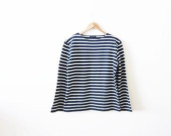 Saint James Shirt / Striped Long Sleeve / Nautical Sailor Breton Shirt