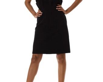 1950s Reich Black Bodycon Strappy Mini Dress Size: XS
