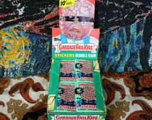 Garbage Pail Kids Vintage Trading Cards. One Pack  Of 10th Series 1980s Garbage Pail Kid Sticker Trading Cards.