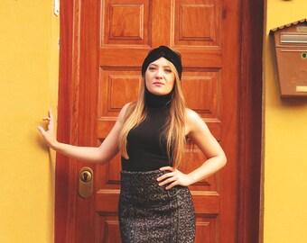 Velvet turban - Black velvet turban - winter hats for women - Winter turban for her - Warm turban