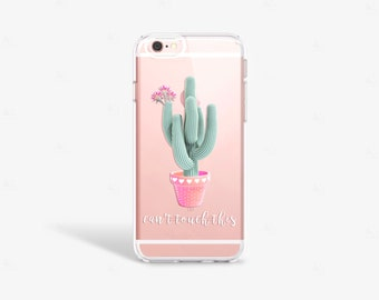 Cactus iPhone 7 Case Clear Gardening Gift iPhone 8 Case Clear iPhone 7 Plus Clear Case iPhone 6 Case iPhone X Case Samsung Galaxy S8 Case