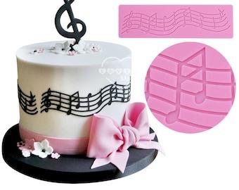 Music Notes Scale Score Silicone Mold - M-246 Baking Fondant Wedding Cake Decorating Tools