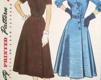 No. 4087 Simplicity Pattern, Dress Pattern Size 14, Patterns for Sewing, Vintage Ephemera, 1940s Dress Pattern, Retro Dress Patterns