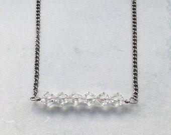 Swarovski Crystal Bar Pendant