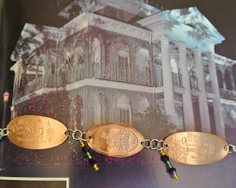 New Orleans 60th Anniversary Pressed Penny Bracelet-Disneyland