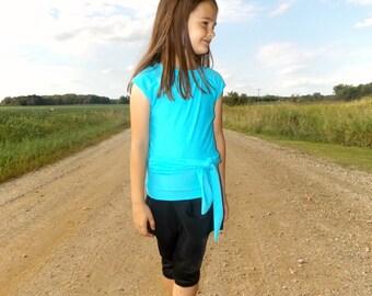 Girls SwimTop - Modest Swimwear - swim-tee, shirt, sun protection - Girls Modest Swimsuit
