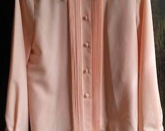 Vintage Sophia Peach Colored Blouse