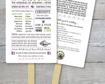 DIY - Wedding Program Fan Kit, Best Day Ever, Order of Service Fan, Wedding Program Fans, Wedding Program