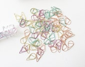 100 pcs Colorful Teardrop Paper Clips in Vial Tube