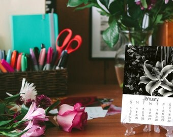 2017 Desk Calendar, Floral Photography, 5x7, Fine Art Prints, Nature, Floral