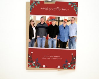 """Personalized Christmas Card •""""Wonders"""""""