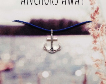Silver Anchor Charm Necklace, Silver Anchor Charm Jewelry, Dogeared Necklace, Charm Necklace, Nautical Jewelry, Anchor Jewelry