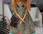 Textile Doll PDF Digital Pattern 'Fleur the Garden Bunny' Holiday Home Decor