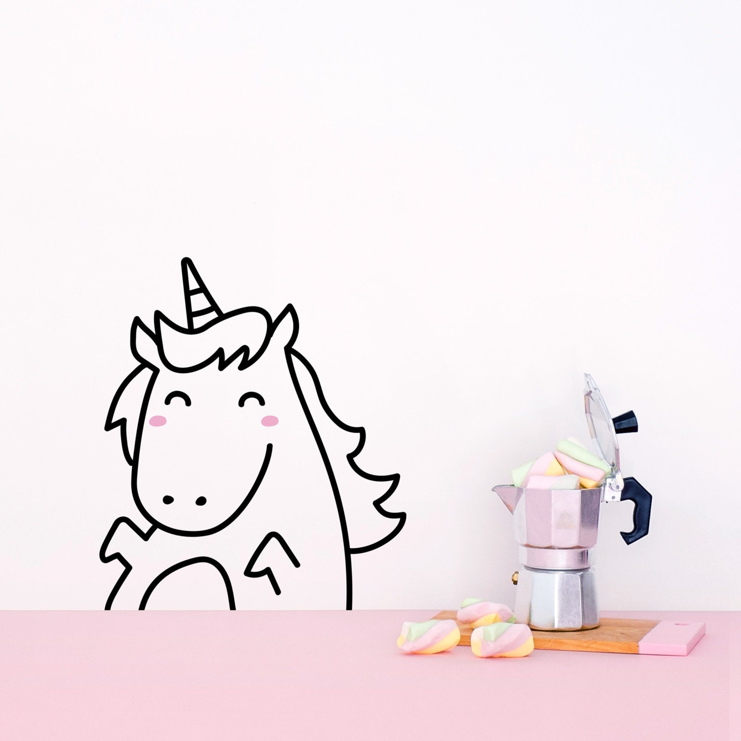 Tiny Lola The Unicorn Door Friend Decal Stickers For Doors