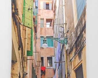 Venice Wall Tapestry, Italy Photography, Venice Tapestry, Pastel Street, Vertical Wall Art, Italy Wall Art, Venice Photography, Pastel