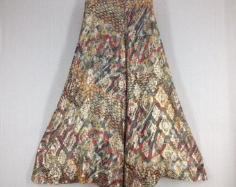 Stunning Vintage 1970s Saks Fifth Ave Elephant Bell Bottom Hippie Psychadelic Pants