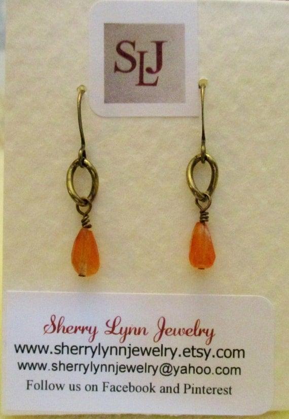 Carnelian Briolette Earrings E6151766