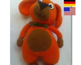 Pattern: Amigurumi, Stuffed Animals, Bello, Dog