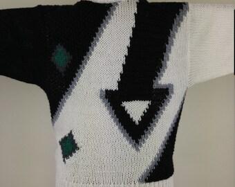 Geometric 1990s Vintage Sweater, size M