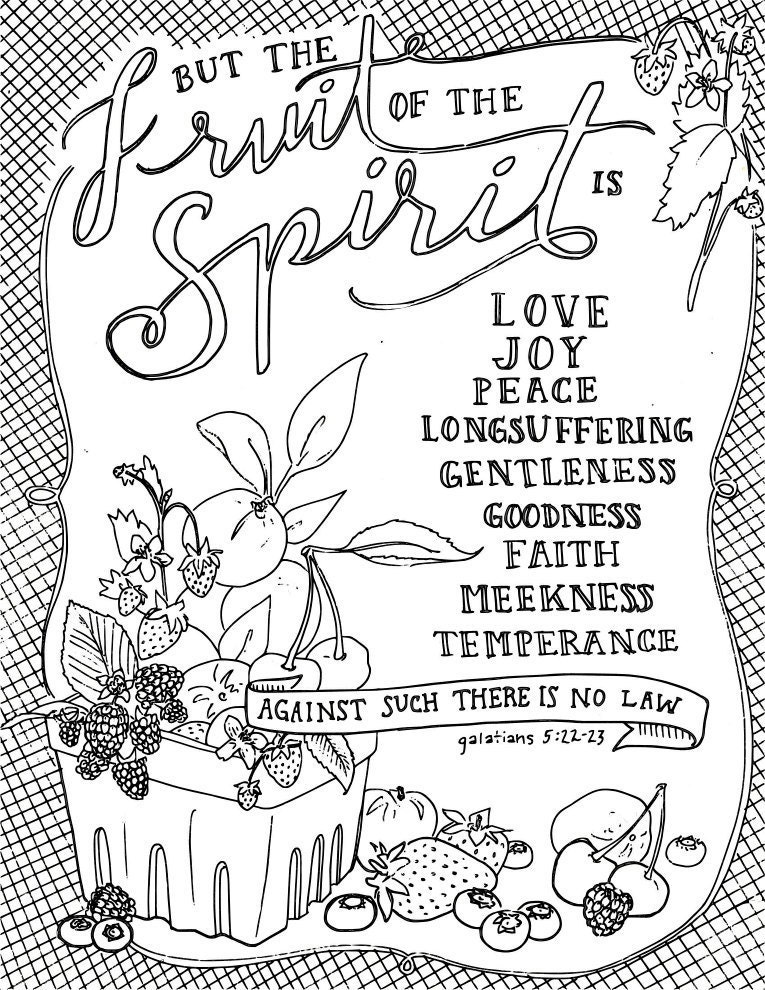 fruits of spirit coloring pages - photo#19
