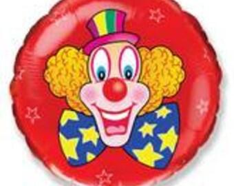 """18"""" Clown Red Balloon"""