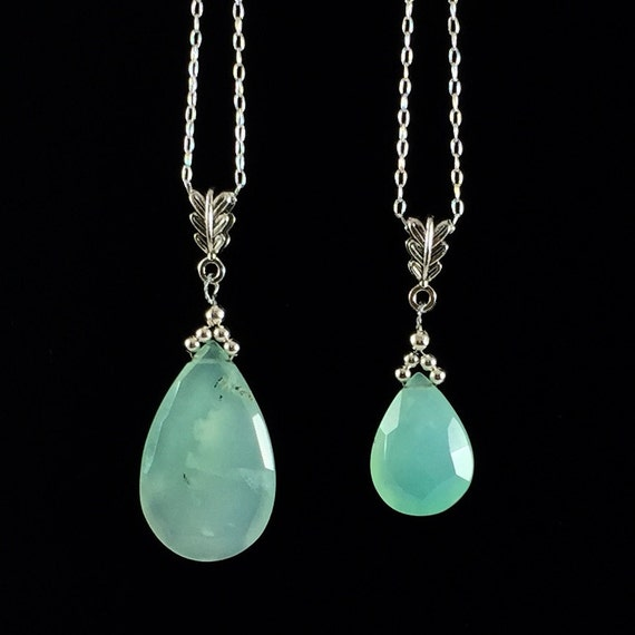 items similar to chrysoprase pendant necklace mint green