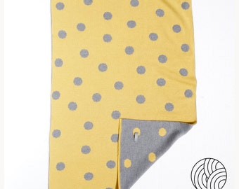 Super Soft Baby Blanket with Polka Dots