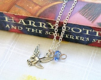 Harry Potter Ravenclaw House Necklace Ravenclaw Blue Wit Learning House Necklace