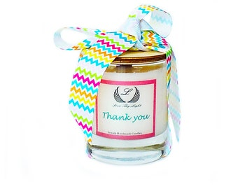 Thank you scented soy candle, Luxury handmade candle, thank you gift, unique gifts for her, personalized candle, gift to say thank you