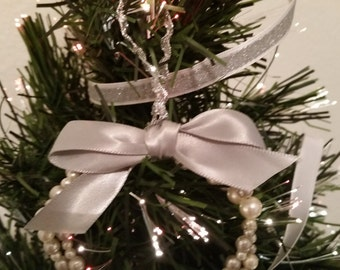 Ornament. Christmas Ornament. Pearl Wreath Ornament. Christmas. Holiday.