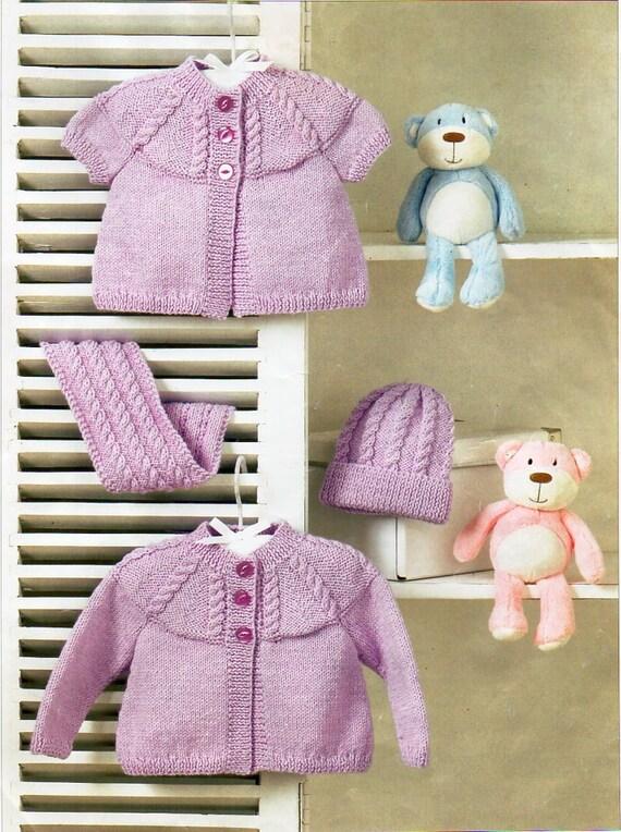 Baby Cardigans Baby Knitting Pattern PDF Baby short sleeve