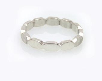White gold wedding ring, White Gold Wedding Band, Gold Wedding Ring, Promise Ring, Modern Ring, gold stacking ring, unisex ba