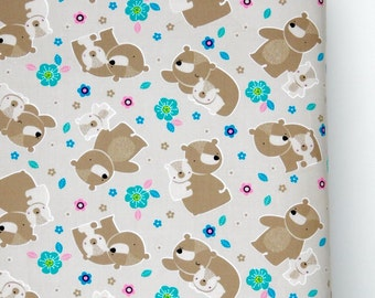 Fitted crib sheet, Mama bear and Baby crib sheet, nursery bedding, boy or girl crib bedding, baby shower gift, baby fitted sheet 100% cotton