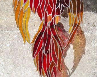 Large red Phoenix MADE TO ORDER