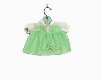 Vintage Mint Green Baby Newborn Dress