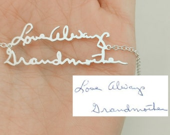 Handwriting Bracelet, Signature Bracelet, Custom Handwriting Bracelet, Handwritten Bracelet, Handwriting Jewelry, Handwritten Jewelry, Gift