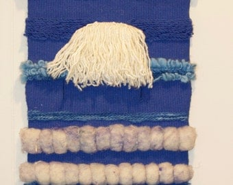 Beachy Blue Loomed Wall Hanging