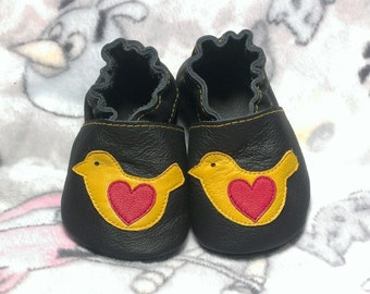 SALE! Bird soft sole leather shoes, leather baby shoes, baby pre-walkers, soft baby shoes, baby slippers, toddlers moccasins, baby gift