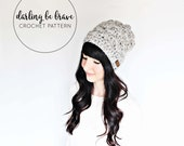 MADISON   crochet beanie pattern and tutorial, women's hat pattern, picture tutorial, thick chunky yarn, pdf file, instant download