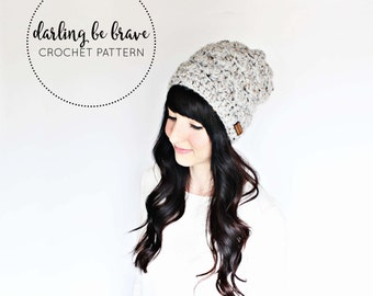 MADISON | crochet beanie pattern and tutorial, women's hat pattern, picture tutorial, thick chunky yarn, pdf file, instant download