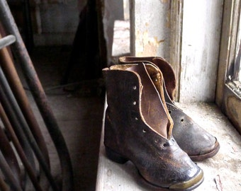 Antique Victorian Child's Boots
