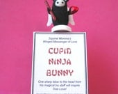 Valentine's Day Cupid Ninja Bunny with Box of Containment