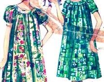 Vintage muu muu 60s summer beach resort dress sewing pattern Butterick 9946 Bust 34