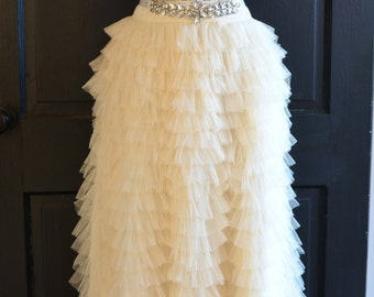 Ivory maxi skirt | Etsy
